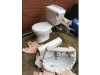 White toilet and sink set + extra