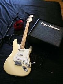 Fender Squier Standard Stratocaster, Hughes & Kettner Amp & Guitar Accessories - CAN DELIVER