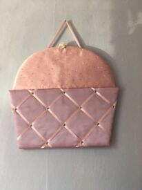 Cupcake noticeboard pink and purple