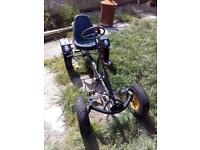Pedal go cart & trailer