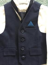 Waistcoat, shirt, tie and trousers - age 3-4