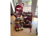 Dolls double buggy/cot/carry seat