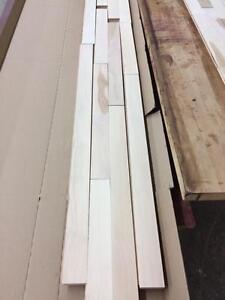 Unfinished hardwood maple flooring 2.99$/sf