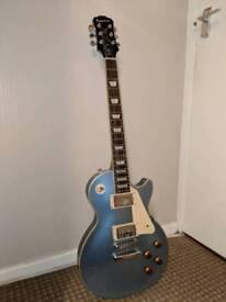 Epiphone Les Paul Standard In Pelhem Blue + Marshall Amp Guitar Bundle