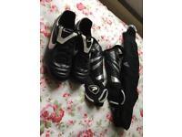 Nike football boots/shin pads/socks