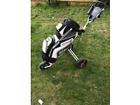 Titleist cart bag and trolley