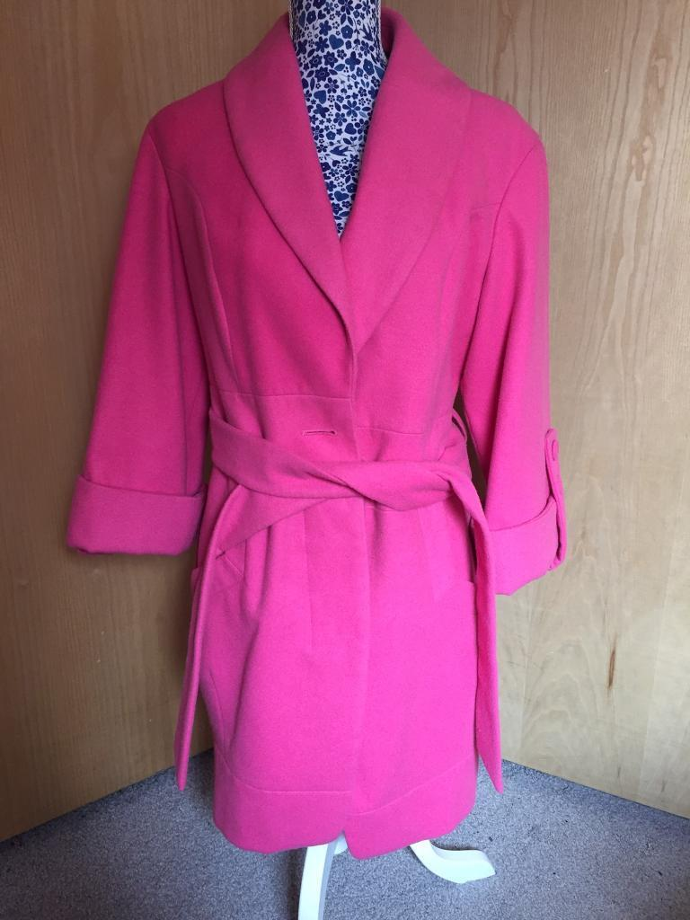 M&S Limited Edition Pink Coat - Size 12