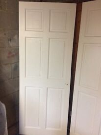 3x internal wood doors white painted used