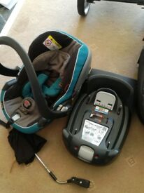 Icandy apple to pear with car seat and base.good condition,