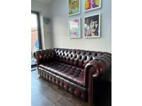 Mint condition Chesterfield oxblood sofa settee chair armchair