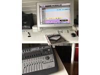 Digi 002 Console inc Protools 8 LE with Apple Monitor and Mac Mini. ( 4 items)