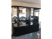 Glass Cabinet Mint Condition Worth £1500.00 Must Be Seen, First To See Will Take, £150.00 Only