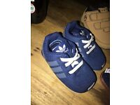 Mixture of baby shoes - Adidas, Converse, Firetrap and other trainers/shoes