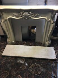 LOUIS STYLE MARBLE CAST RESIN FIRE PLACE PRISTINE