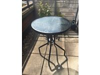 Small Round Glass Bistro Table