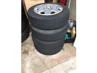 VW Polo 5x100 wheels with good tyres