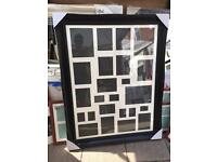 """40""""x30"""" black wooden swept frame with multi mount"""