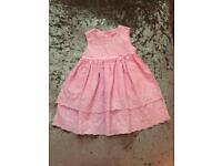 Baby girl George pink summer dress 3-6 Months