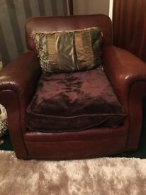 Tetrad Brown Leather Armchair