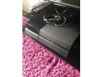 Playstation 4 with 7 games and a turtle, beach headset in excellent condition.