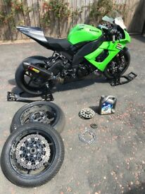 Kawasaki 2009 ZX10R track race bike (comes with v5 log book so suitable for road use)