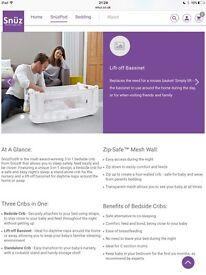 SnuzPod2 Bedside Crib 3 in 1 - Eco White