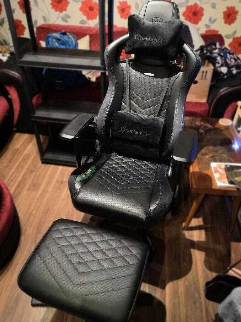 Marvelous Noblechairs Epic Black Green Gaming Chair Footrest Was 410 In Poole Dorset Gumtree Inzonedesignstudio Interior Chair Design Inzonedesignstudiocom