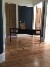 IKEA black console table