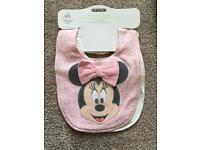Disney 2 pack of bibs brand new Minnie Mouse