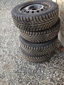 195-60-15 winter tires on rims