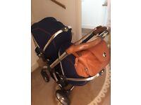 Twin egg pram baby bag seat liners rain covers