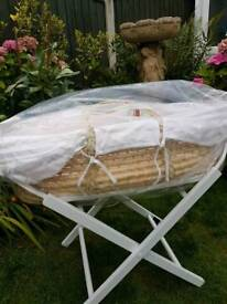 NEW MOSES BASKET AND STAND£20
