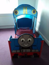 Thomas the Tank Engine junior bed frame and canopy