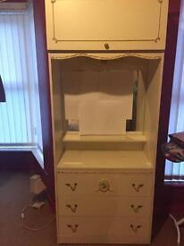 Dressing Table with Cupboard and Wardrobe (2 Items)