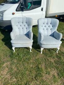 X 2 armchairs