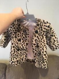Faux fur baby coat 6-8months