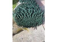 Chain link fencing 6FT green pvc coated +line