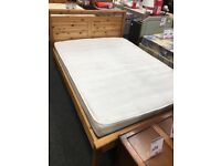 Second hand wood bed with new mattress