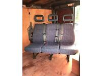 Treble 3 seater van seats with belts transit Vauxhall