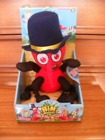 Bin Weevils -talking clott soft toy