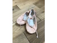 Girls size J12 ballet shoes