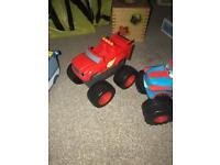 Blaze truck and Disney cars