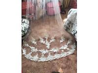 Ivory white veils