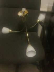LIGHT FITTING - 3 ARM - BRASS