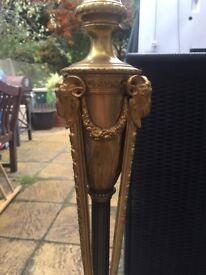 Tall Slender golden coloured brass lamp