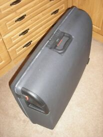 LARGE TOUGH SHELL SUITCASE by CARLTON INTERNATIONAL