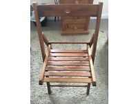 Wooden indoor or outdoor chairs set of four