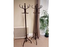 Mahogany coloured coat stands