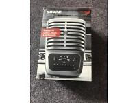 Shure Mv51 usb condenser microphone brand new in box with brand new boom stand cost £200