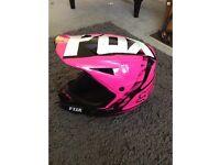 Fox pink motorbike motocross helmet xl brand new in pink
